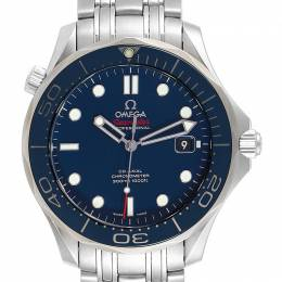 Omega Blue and Stainless Steel Seamaster 212.30.41.20.03.001 Men's Wristwatch 41MM 240142