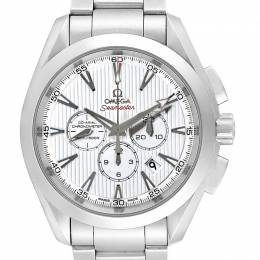 Omega White and Stainless Steel Seamaster Aqua Terra 231.10.44.50.04.001 Men's Wristwatch 44MM 240147