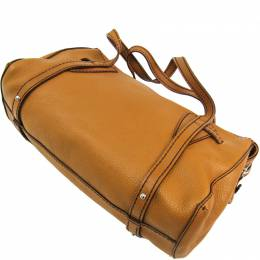 Tod's Camel Leather Duffle Bag Tod's