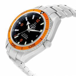 Omega Black and Stainless Steel Seamaster Planet Ocean 2208.50.00 Men's Wristwatch 45MM 240172