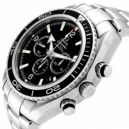 Omega Black and Stainless Steel Seamaster Planet Ocean 2210.50.00 Men's Wristwatch 45MM 240167