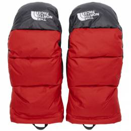 The North Face Red Down Nuptse Mittens 192802M13500504GB