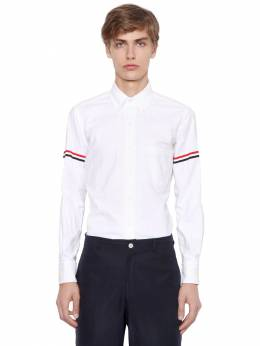 Striped Arm Band Cotton Oxford Shirt Thom Browne 71ILA9003-MTAw0