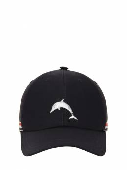 Dolphin Embroidery Cotton Baseball Hat Thom Browne 71IATU005-NDE10