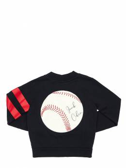 Cotton Cardigan W/ Baseball Patch Jacob Cohen 70IX9V011-ODcw0