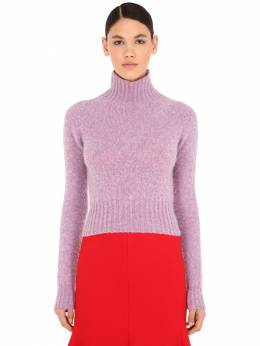 Cropped Wool Knit Sweater Victoria Beckham 70IF4I006-QlJJR0hUIEhFQVRFUg2