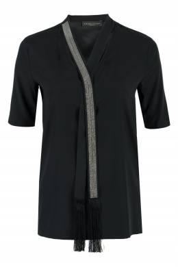 Черная блуза с отделкой Fabiana Filippi 2658163436