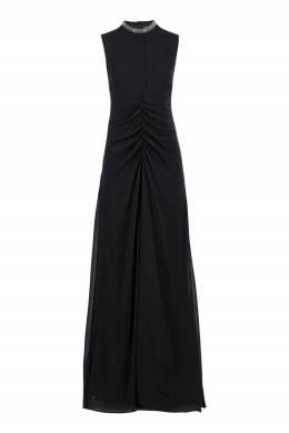 Черное платье с драпировками Fabiana Filippi 2658163434