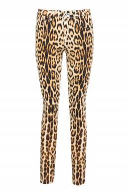 Облегающие леопардовые джинсы Roberto Cavalli 314163549