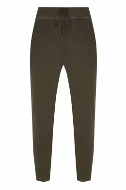 Зеленые брюки с эластичным поясом James Perse 280162845