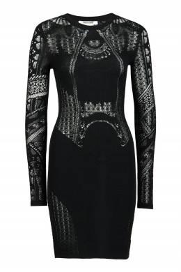 Черное платье с узорами Roberto Cavalli 314163486