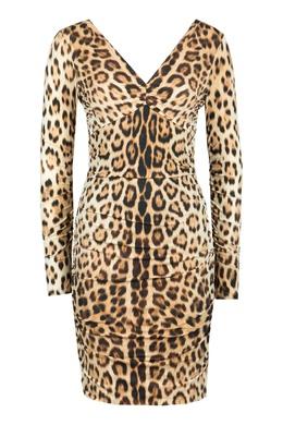 Платье с леопардовым принтом Roberto Cavalli 314163483
