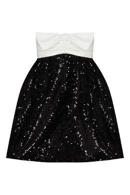 Черно-белое платье мини с пайетками Alexandre Vauthier 356162225