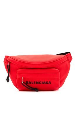 Красная поясная сумка Wheel Balenciaga 397162179