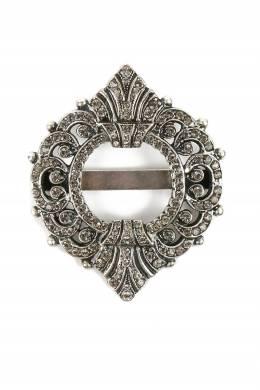 Серебристая брошь с кристаллами Etro 907163701