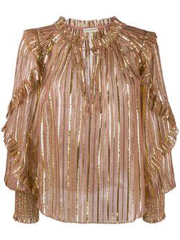 Ulla Johnson блузка Lucinda в полоску HO190203
