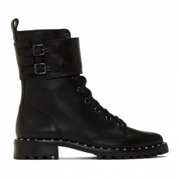 Sophia Webster Black Bessie Combat Boots 192504F11400105GB