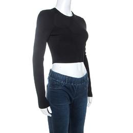 Proenza Schouler Black Knit Cropped Top XS 241379