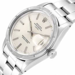 Rolex Silver and Stainless Steel Date 15010 Men's Wristwatch 34MM 240240