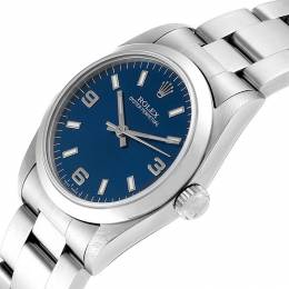 Rolex Blue Stainless Steel Oyster Perpetual Datejust 67480 Women's Wristwatch 31 MM 241420