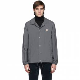 Maison Kitsune Grey Bertil Fox Head Jacket 192389M18000304GB