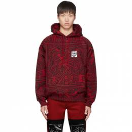 Etudes Red and Black Keith Haring Edition Odysseus Hoodie 192647M20201305GB