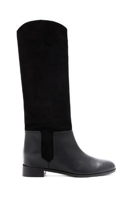 Сапоги на низком каблуке Duke Ridding Boot Aquazzura 975163158