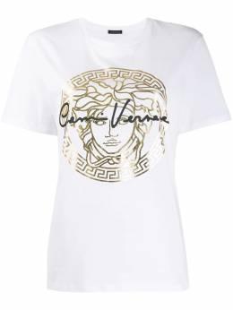 Versace футболка с принтом Medusa A85760A228806