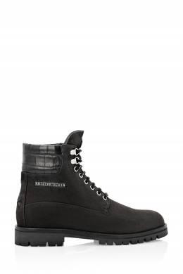 Черные комбинированные ботинки Philipp Plein 1795159862
