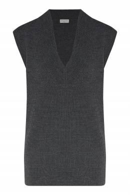 Базовый жилет серого цвета Dries Van Noten 1525163936