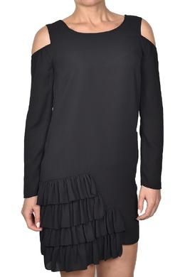 Черное платье-мини с вырезами и оборками Patrizia Pepe 1748164068