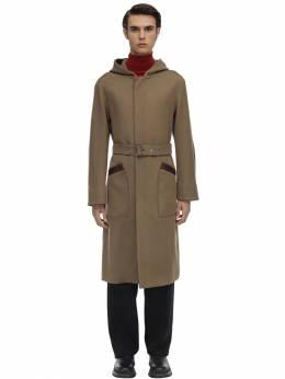 Hooded Nylon & Virgin Wool Trench Coat Salvatore Ferragamo 70IX0A005-NzIwNjg40