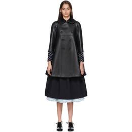 Comme Des Garcons Girl Black Faux-Leather Heart Cut-Out Coat ND-C002-051