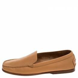 Tod's Beige Leather Loafers Size 40 Tod's