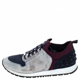 Tod's Multicolor Suede and Nylon Lace Sneakers Size 38 Tod's