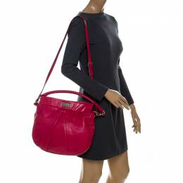 Marc By Marc Jacobs Hot Pink Leather Classic Q Hillier Hobo 211661