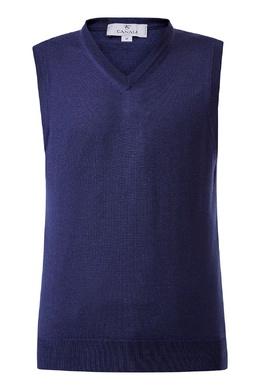 Синий трикотажный жилет Canali 1793162250
