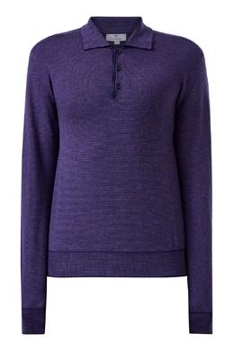 Фиолетовый джемпер с отложным воротником Canali 1793162234