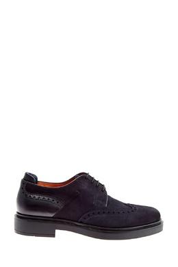 Синие туфли с перфорацией Santoni 1165162200