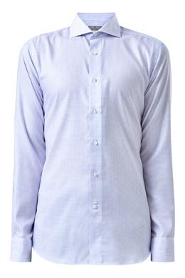 Белая рубашка в клетку Canali 1793162372