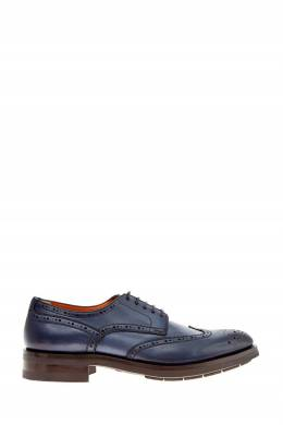 Синие туфли с открытой шнуровкой Santoni 1165162408
