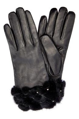 Перчатки с меховой отделкой Valentino 210162329