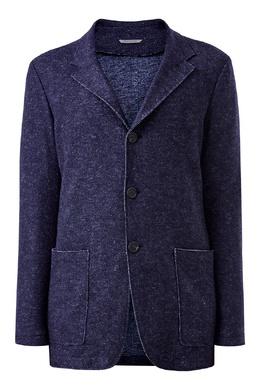 Синий пиджак из фактурной ткани Canali 1793162336