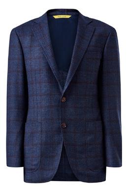 Пиджак синего цвета в клетку Canali 1793162335