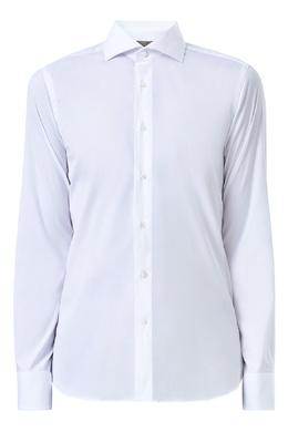 Приталенная рубашка с фигурными манжетами Canali 1793162388