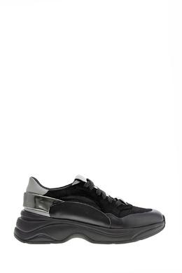 Черные кроссовки с металлизированными вставками Santoni 1165162287