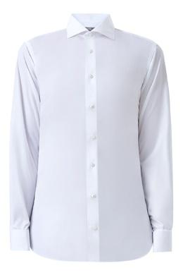 Белая рубашка с отверстиями для запонок Canali 1793162380