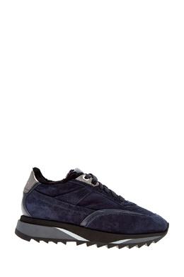 Синие кроссовки с меховой подкладкой Santoni 1165162279