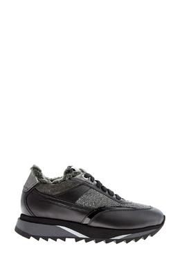 Кроссовки с меховой подкладкой Santoni 1165162277