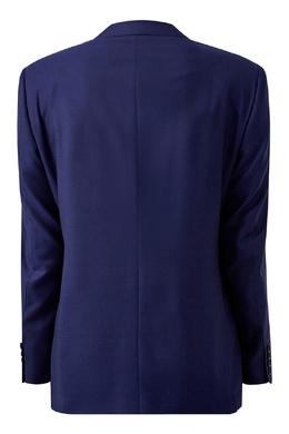 Однотонный синий костюм Canali 1793162270